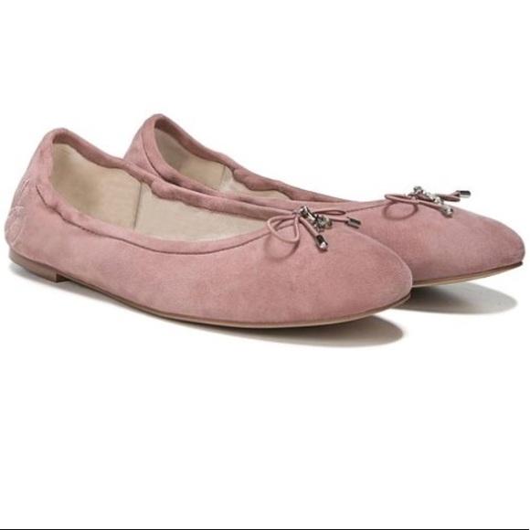 d9011830fb931d Sam Edelman Felicia Dusty Rose Suede Ballet Flat